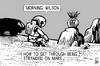 Cartoon: Martian Wilson (small) by sinann tagged the,martian,mars,wilson,stranded,castaway