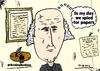 Cartoon: Bald James Madison caricature (small) by BinaryOptions tagged bald,balding,president,madison,spying,constitution,caricature,webcomic,cartoon,comic,binary,option,options,trader,trading,optionsclick,political,editorial,news