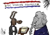 Cartoon: DC staring contest cartoon (small) by BinaryOptions tagged optionsclick,binary,option,options,trade,trader,trading,politics,political,cartoon,comic,caricature,editorial,news,washington,shutdown,budget,financial,fiscal