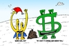 Cartoon: Euroman Bucky and Christmas Coal (small) by BinaryOptions tagged financial,currency,currencies,forex,binary,options,option,trader,trade,trading,euroman,eur,usd,bucky,dollar,christmas,present,coal,editorial,cartoon,webcomic,optionsclick,comic,caricature,parody