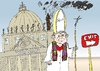 Cartoon: Pope Benedict XVI quits cartoon (small) by BinaryOptions tagged binary,option,options,vatican,pope,benedict,optionsclick,caricature,cartoon,editorial,business,news,politics,religion,church,resign,trade,trading,comic