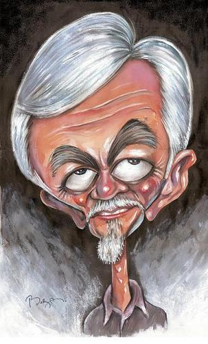 Cartoon: Eray ÖZBEK (medium) by MUSTAFA BORA tagged caricature