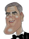 Cartoon: George Clooney (small) by Berge tagged caricature american movie pastel coloured