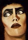Cartoon: Frank N Furter (small) by vokoban tagged painting,oil,rocky,horror,tim,curry,drag,queen