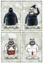 Cartoon: stripteas show (small) by Ridha Ridha tagged stripteas,show,against,terrorism,cartoon,by,ridha