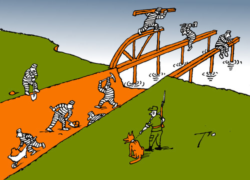 Cartoon: Canal and bridge (medium) by tunin-s tagged bridge