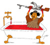 Cartoon: bloody bath (small) by tunin-s tagged bloody,bath