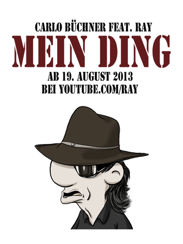 Cartoon: MEIN DING (medium) by Carlo Büchner tagged carlo,büchner,arts,ray,mein,ding,udo,lindenberg,2013,song,parodie,hut,brille,rock,pop,deutschsprachig,cartoon,zeichnung,animation,humor,satire,comedy,fun,spaß