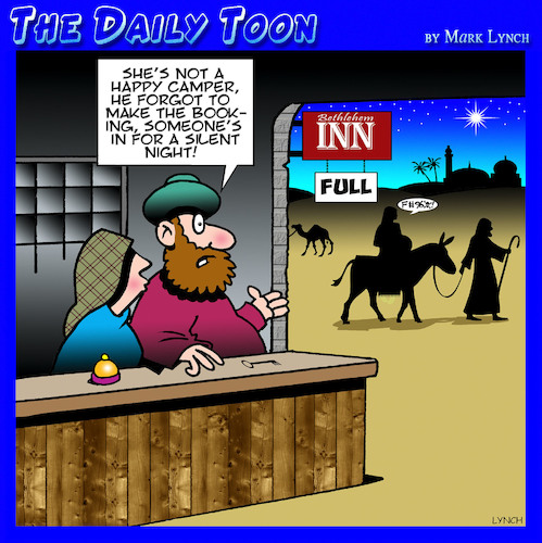 Cartoon: Bethlehem inn (medium) by toons tagged silent,night,christmas,no,room,at,the,inn,accommodation,angry,wife,mary,and,joseph,silent,night,christmas,no,room,at,the,inn,accommodation,angry,wife,mary,and,joseph