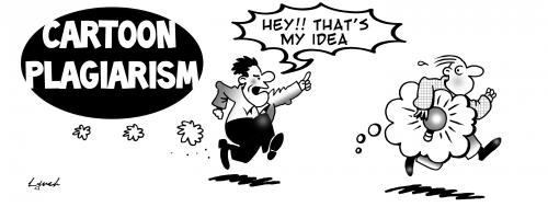Cartoon: cartoon plagiarism (medium) by toons tagged cartoons,plagiarism,comics,stealing