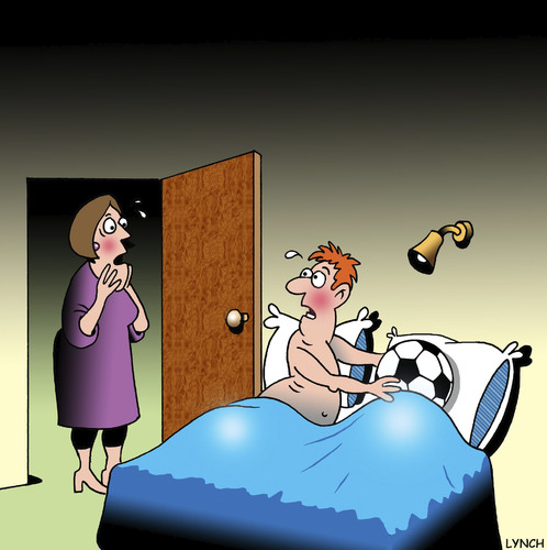 Cartoon: caught (medium) by toons tagged wm,soccer,sport,marriage,infidelity,football,fifa,world,cup,2014,copa,mundial,de,futbol,brazil,brasil