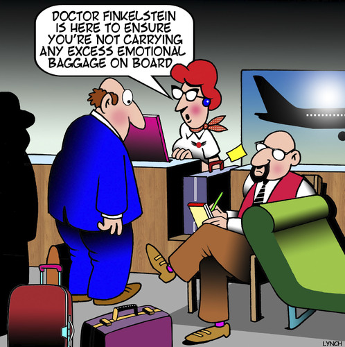 Cartoon: Emotional baggage (medium) by toons tagged airline,check,in,emotional,baggage,excess,charges,travel,airline,check,in,emotional,baggage,excess,charges,travel