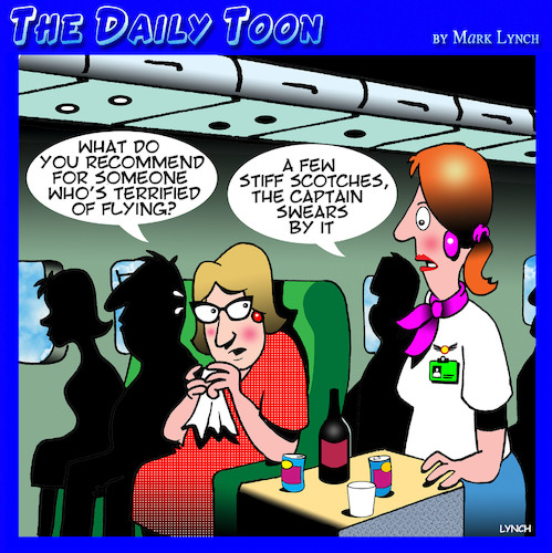 Cartoon: Fear of flying (medium) by toons tagged flying,scotch,alcohol,fear,of,drinking,airline,pilot,flying,scotch,alcohol,fear,of,drinking,airline,pilot