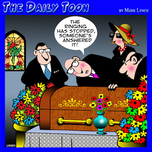 Cartoon: Funeral (medium) by toons tagged iphone,afterlife,ringing,phone,funeral,death,iphone,afterlife,ringing,phone,funeral,death