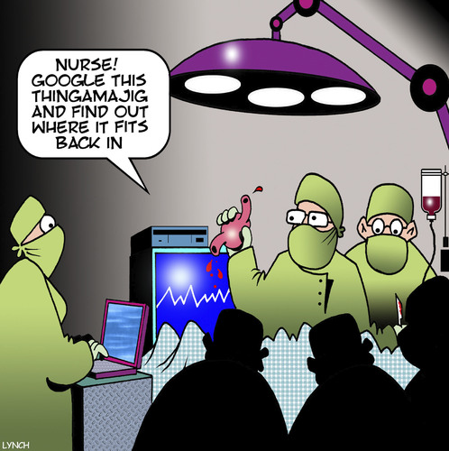 Cartoon: Google this (medium) by toons tagged operating,theater,surgeon,nurses,search,engine,body,organ,google,surgery,operating,theater,surgeon,nurses,search,engine,body,organ,google,surgery