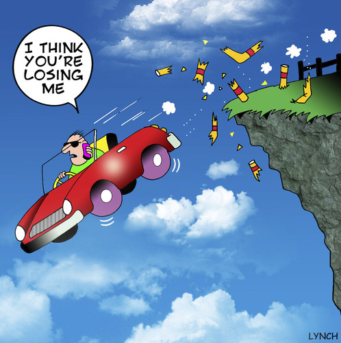 Cartoon: Losing me (medium) by toons tagged auto,safety,mobile,phones