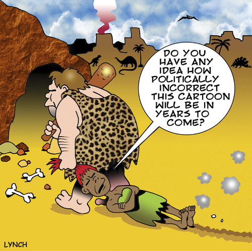 Cartoon: Politically incorrect (medium) by toons tagged prehistoric,politically,incorrect,caveman,cave,woman,black,prehistoric,politically,incorrect,caveman,cave,woman,black