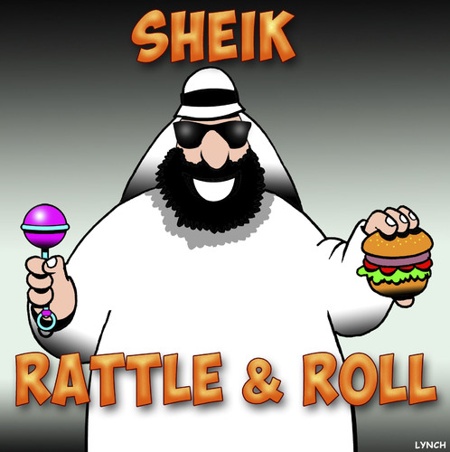 Cartoon: Rock and roll (medium) by toons tagged sheikah,shake,rock,and,roll,sheik,rattle,sheikah,shake,rock,and,roll,sheik,rattle