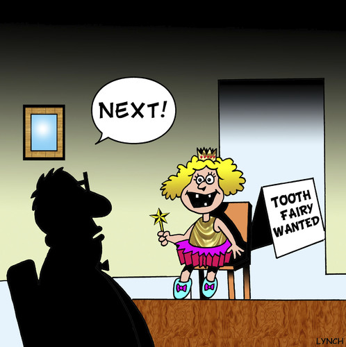 Cartoon: Tooth fairy wanted (medium) by toons tagged tooth,fairy,dentist,dental,dentures,teeth,health