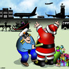 Cartoon: Airport security (small) by toons tagged santa,claus,airline,security,christmas,body,search