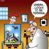 Cartoon: Airport terminals (small) by toons tagged airports,terminal,disease,terminally,ill,xray