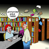 Cartoon: Aisle three (small) by toons tagged library,levitation,levity,books