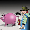 Cartoon: Alternate corkscrew (small) by toons tagged wine,corkscrew,farmer,tasting