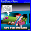 Cartoon: Baby Boomer (small) by toons tagged gps,navigation,memory,loss,baby,boomers