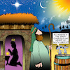 Cartoon: Baby Jesus (small) by toons tagged christmas,birth,of,jesus,mary,and,joseph,nativity,scene,cheese,mice