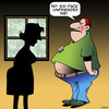 Cartoon: Beer belly (small) by toons tagged unfriended,beer,belly,obesity,six,pack,fat,abs