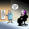 Cartoon: Blind as a bat (small) by toons tagged vampires,bats,eye,tests,spectacles,glasses,short,sighted,blind