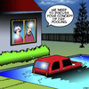 Cartoon: Car pooling (small) by toons tagged car,pool,energy,saving,shared,vehicles,swimming,pools