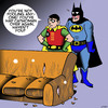 Cartoon: Catwoman (small) by toons tagged batman,catwoman,and,robin,cats,scratching,furniture,pussy,super,hero,comic,characters