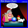Cartoon: Chicken crossing the road (small) by toons tagged fortune,teller,chickens,eternal,question