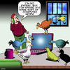 Cartoon: Computer worm (small) by toons tagged computer,worm,virus,infected,birds,worms,tech,support,early,bird,trojans