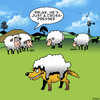 Cartoon: Cross dresser (small) by toons tagged wolf,in,sheeps,clothing,gay,drag,queen,cross,dressing,sheep,animals