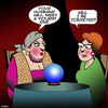 Cartoon: Crystal ball (small) by toons tagged fortune,teller,crystal,ball,murder,conviction,the,future,divorce