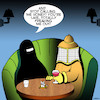 Cartoon: Dating Beekeeper (small) by toons tagged beekeeper,burka,first,date,burqa,honey