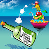 Cartoon: Dessert (small) by toons tagged desert,island,desserts,message,in,bottle,sweets,candy,cupcake