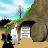 Cartoon: Error 404 (small) by toons tagged resurrection,error,404,easter,sunday,crucifixion,computer,saviour