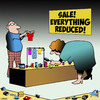 Cartoon: Everything reduced (small) by toons tagged retail,sales,miniatures,everything,reduced,sale,items,small,things