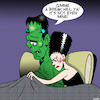 Cartoon: Frankenstein (small) by toons tagged bride,of,frankenstein,small,penis,bedroom,embarrassment,body,parts