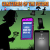 Cartoon: Future cemetery (small) by toons tagged hashtag,smartphones,death,cemetery,graveyard,mourning,iphone