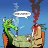 Cartoon: Gesundheit (small) by toons tagged gesundheit,dragons,flu,mythical,creatures