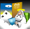 Cartoon: God and other odd jobs (small) by toons tagged god,heaven,angels,odd,jobs,handyman