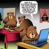 Cartoon: Goldilocks (small) by toons tagged goldilocks,instagram,restaurant,reviews,nursery,rhymes,three,bears,porridge,social,media,animals