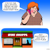 Cartoon: Good place (small) by toons tagged wine,store,alcohol,psychiatric,problems,stress,sales