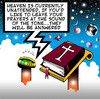 Cartoon: heaven is unattended (small) by toons tagged heaven,hell,god,answering,machines,fax,email,phones,mobile,messaging,social,networking,computers,angels,bible,st,peter,universe,planets,earth,mars,venus,jupiter,black,hole,praying,prayers