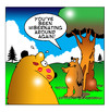 Cartoon: Hibernating around (small) by toons tagged bears,hibernation,sex,relationships,marriage,affairs,animals,lipstick,mistress