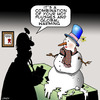 Cartoon: Hot flushes (small) by toons tagged menopause,global,warming,snowman,hot,flushes,doctors,and,patients